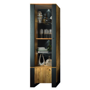 Tall cabinet with glass 2D
